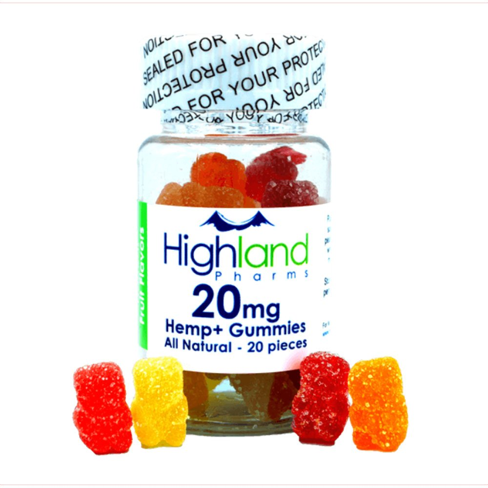 groovyhempcompany.com provides Highland Pharms All-Natural CBD Gummies, 400mg CBD Oil, 20mg per piece.