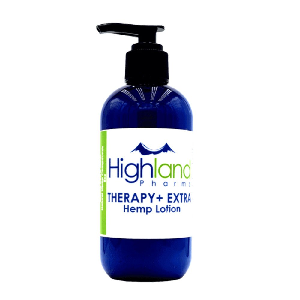 groovyhempcompany.com provides Highland Pharms Therapy+ CBD Lotion, 800mg CBD Oil, 8oz (Large Pump Bottle).