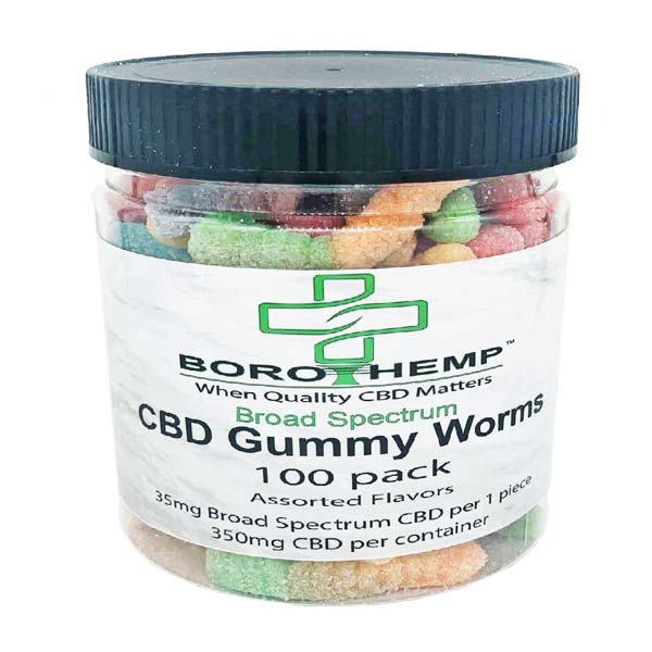groovyhempcompany.com provides Boro Hemp 350mg CBD 100 Pack Gummy Worms