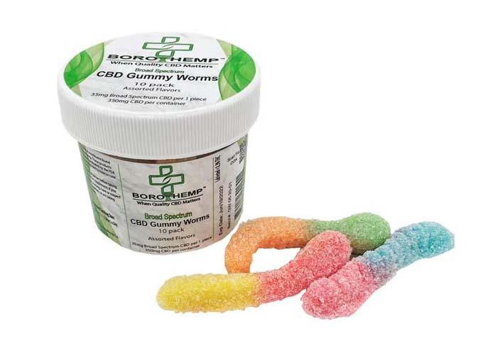 groovyhempcompany.com provides Boro Hemp 350mg CBD 10 Pack Gummy Worms